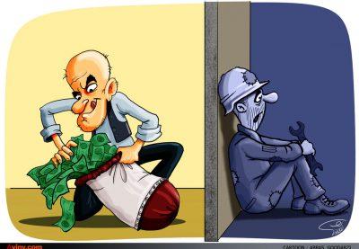016 aviny 400x277 - کاریکاتور: رکود نتیجه مال اندوزی