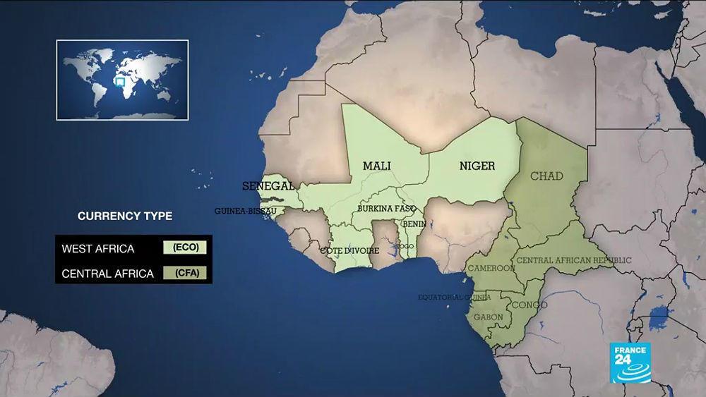 استفاده کشورهای آفریقایی از واحدهای پولی CFA فرانک و اکو