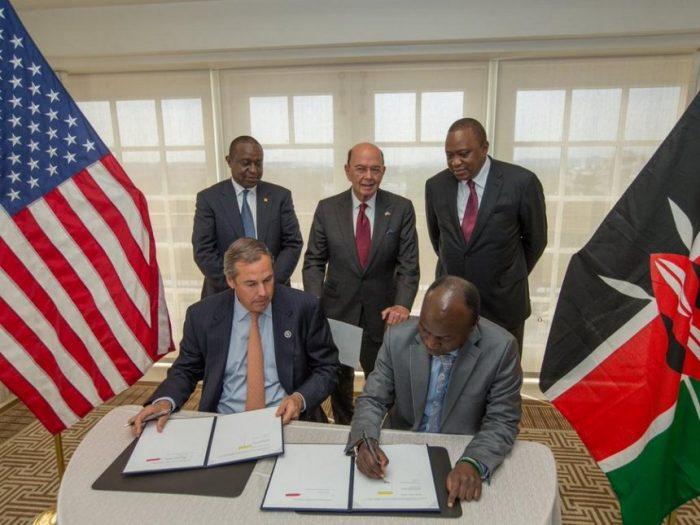مذاکرات تجاری آمریکا و کنیا