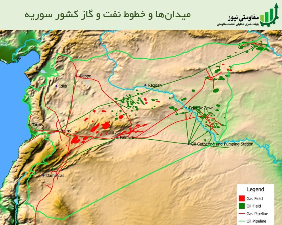 میدان و خطوط نفت و گاز سوریه